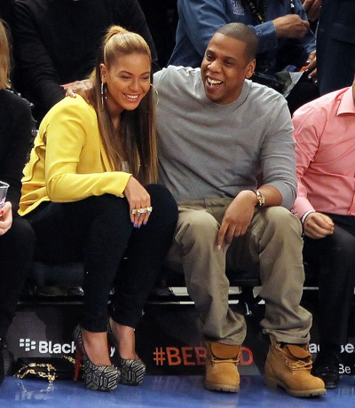 loveforfashion:  I love Beyonce & Jay-Z :) I so want her heels.