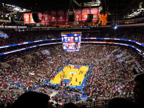 Again, nothing fancy. Sold out crowd at the Wells Fargo Center. Can't beat it. Go Sixers!