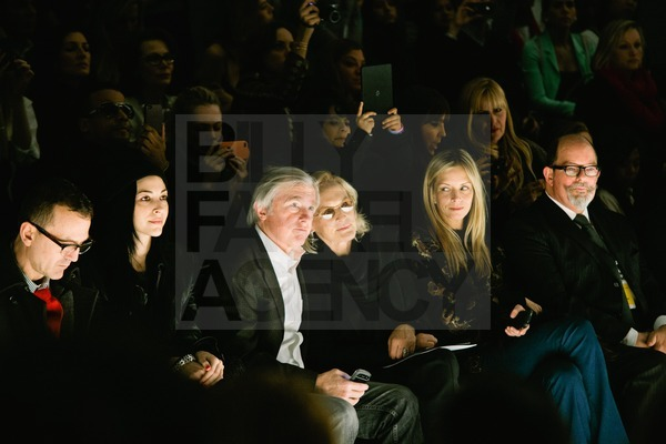 Glenn Close and David Shaw at the Bibhu Mohapatra Fall 2012 Fashion show at Lincoln Center