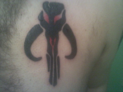 My new tatt. A little tribute to Boba Fett