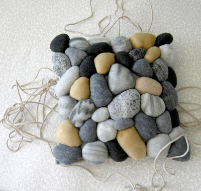 River Rock Pillow (via miasole on Etsy)