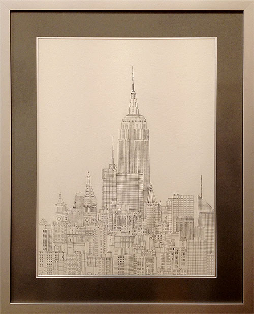 Framing Portfolio: Lachie Abbot (12 Years Old) - NYC Pencil Drawing