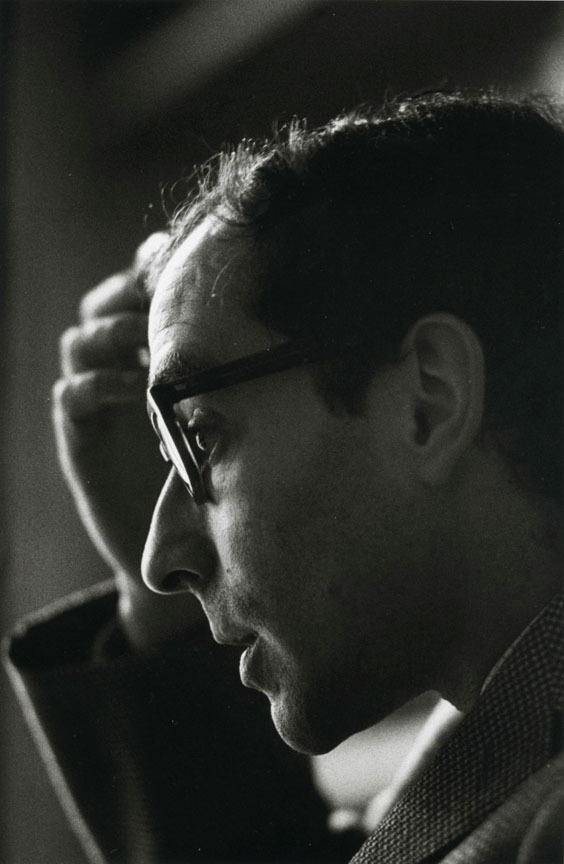 chagalov:  Jean-Luc Godard, 1965 -by Jeanloup Sieff from asap
