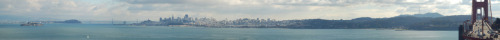 A panorama of San francisco.