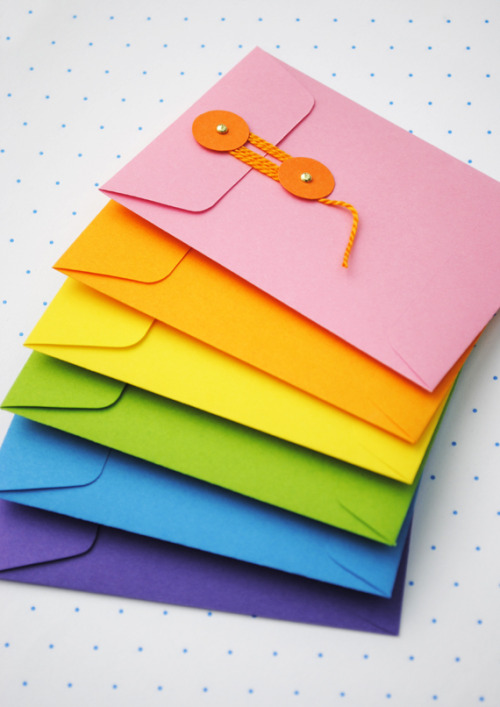 DIY: Make your own drawstring envelopes
