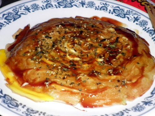 Behold! It is so easy to make delicious okonomiyaki. Check out my recipe here! Since I threw my back out, I haven't been able to do too much lengthy or involved cooking, so okonomiyaki is just what I needed! I'm really proud of how beautifully this turned out! I hope you'll give it a try too.