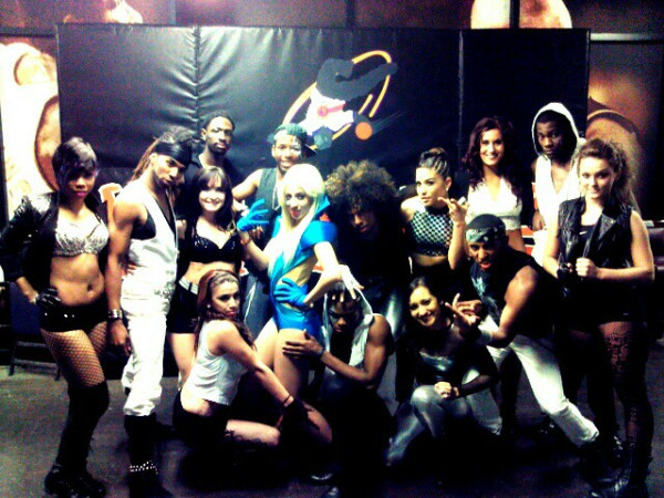 : We're Lady Gaga's dancers ;p Our Lady Gaga routine for today's performance at the Suns vs. Wizards Game (: Nova really pulls off Lady Gaga too haha PhxSunsSolarSquad, we killed it ! ;D