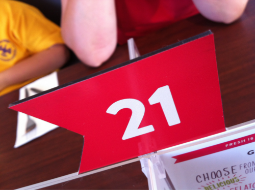 We're in table 21.