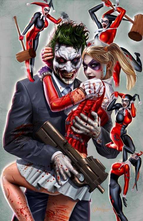 Joker and Harley Quinn, brought to you by Greg Horn