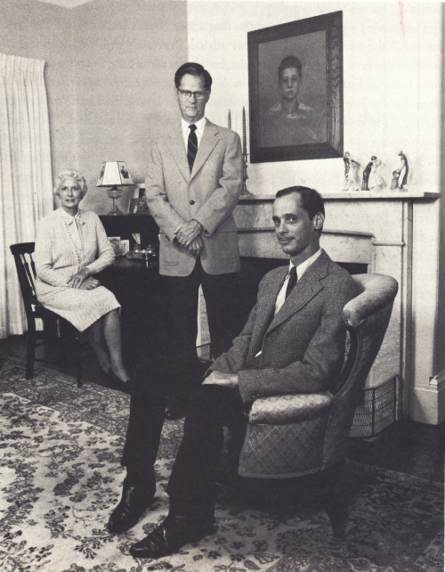 "opium-tea:  John Waters & his parents  A line from our interview with Waters seems especially appropriate here: ""I thank my mother every day for teaching me proper table manners—which fork to use, all that stuff—even though it lead to a career that humiliated and embarrassed her."""