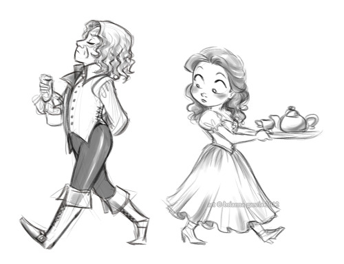 briannacherrygarcia:  You know Belle looked.  A guy walks around his estate in tight leather pants, you can't help but look.