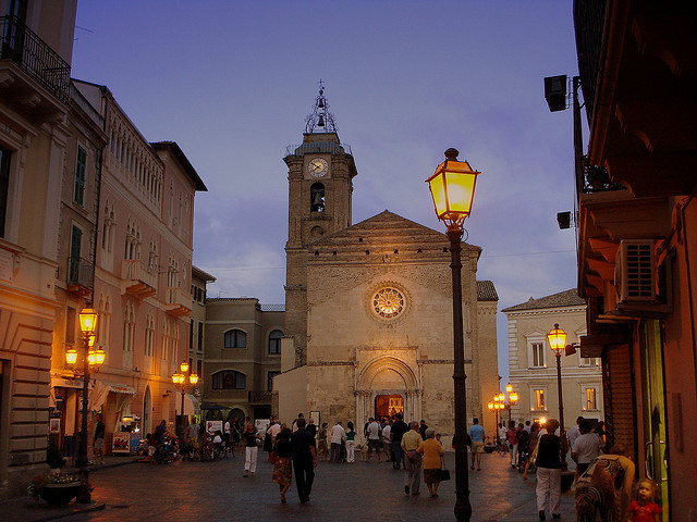 | ♕ |  Sunday evening - piazza in Vasto, Italy  | by © Angela Cherubini