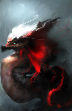 "fabulouslyfreespirited:  ""Dragon"" by Peter Gikandi"