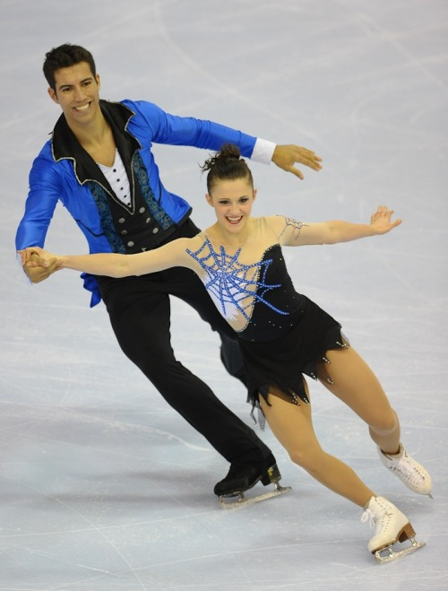 Paige Lawrence and Rudi Swiegers skating their short program at the 2012 Canadian Nationals. What music could have inspired these costumes? The Beetlejuice soundtrack. I guess this is not quite spider boob (see http://ontd-skating.wikispaces.com/Miki+Ando) but spiderweb boob is close enough.