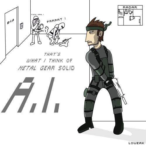 Today, a Metal Gear Solid Illustration (quick sketch) (Epic A.I. is Epic)