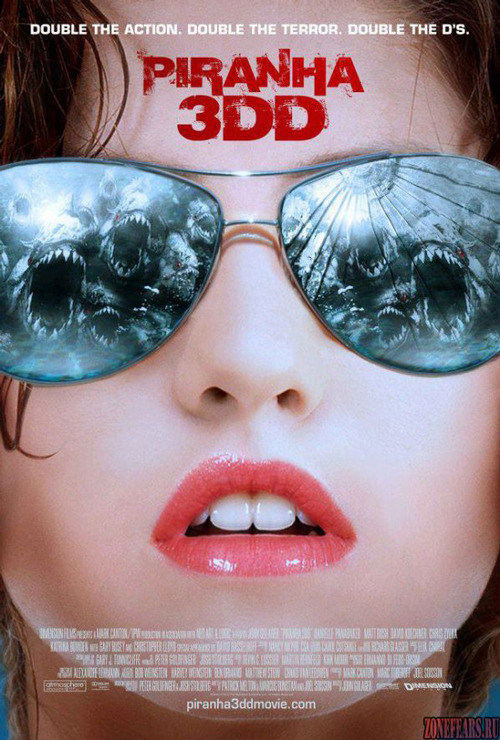 Two international posters for Piranha 3DD Piranha 3DD has released a new pair of posters promoting the horror sequel's schlocky wares, and they've got us ruing afresh that the film has been unable to negotiate a UK release.