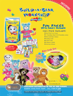 Build a Bear Advert as seen in Toy News Magazine.