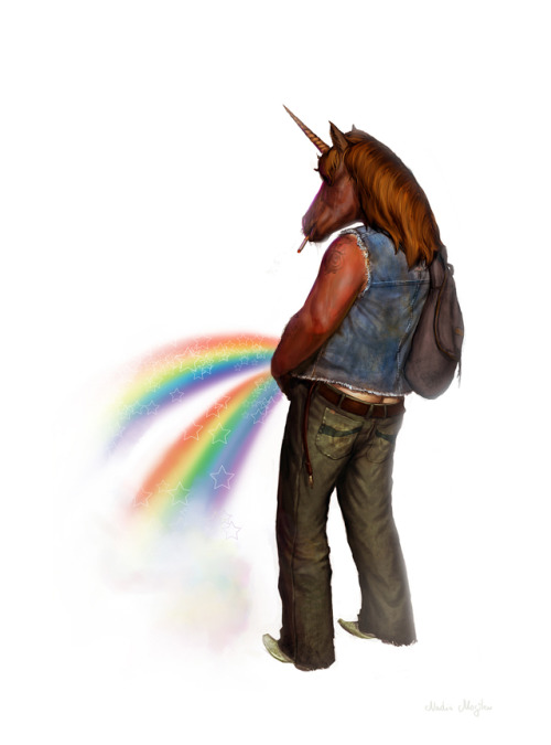 eatsleepdraw:  Manicorn of the Double Rainbow