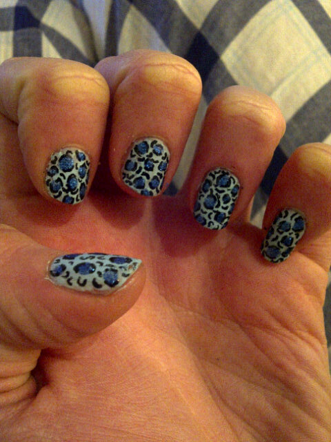 Shades of blue leopard.