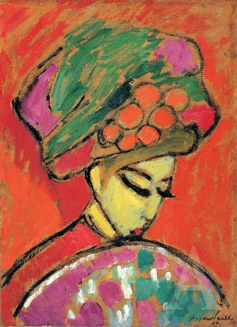 Jawlensky, Alexei (1864-1941) - 1910 Young Girl in a Flowered Hat (The Albertina, Vienna, Austria) by RasMarley on Flickr.