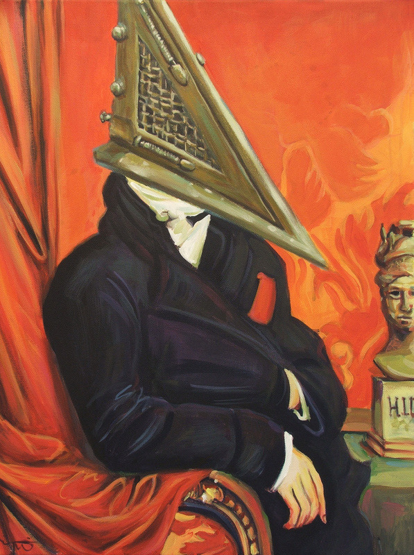 theawkwardgamer:  Baron Pyramid Head by Hillary White (Society6)