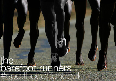 #spottheoddoneout Barefoot running, straight from Africa, the finest runners ever to have graced the earth. #runwithus