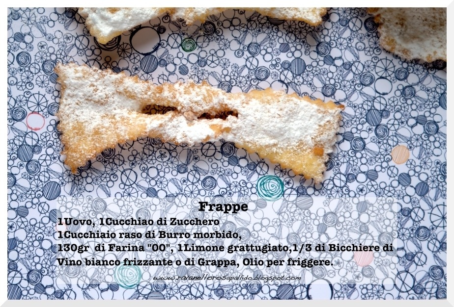 Italian Recipe for Carnival flapjack or Frappe…  See my blog for recipe in English !