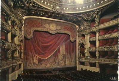 Another view of the stage in the Paris Opera House.