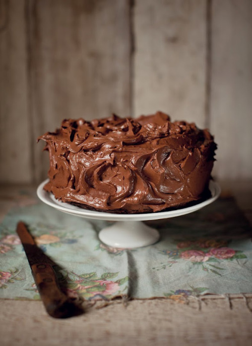 Chocolate Fudge Cake by What Katie Ate