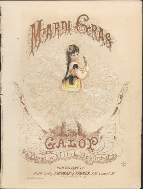 Happy Mardi Gras from Hopkins' very own Lester Levy Collection of Sheet Music!
