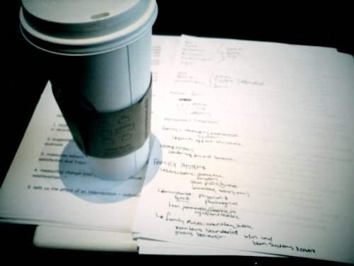 Big coffee for a big task. Studying :(