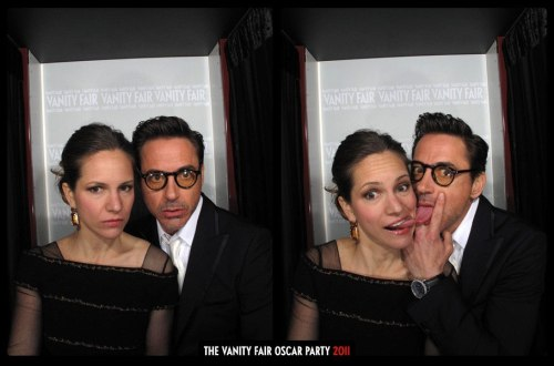 robbieandsuzieq:  booshbaby:    Robert Downey Jr and Susan Downey - Unseen photos from Vanity Fair's Oscar Party Photobooth    OMG these are insane lol. The second one, ROBERT WHAT ARE YOU DOING WITH YOUR HANDS/TONGUE. And are their tongues touching lol