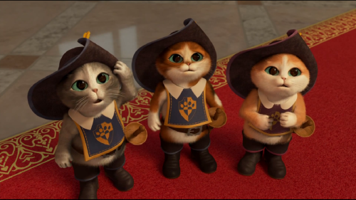 *Screencap from Puss in Boots: The Three Diablos Howww do you say no to faces like that?! I'm on some kinda cat craze lately, been having the urge to get a British Shorthair and this is not helping. Hello future me, your crazy cat lady fate is pretty much cemented.