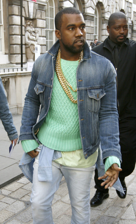 Kanye West at London Fashion Week