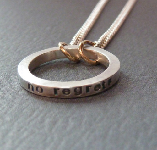 raeandco:  no regrets open circle necklace on etsy by raeandco