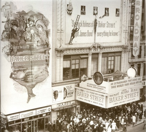 Broadway opening of Baker Street (the Musical) c.1965