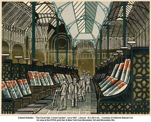 "artknowledge:  Edward Bawden - ""The Floral Hall, Covent Garden"", circa 1967"