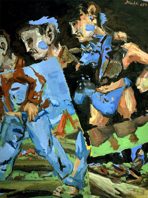 Baselitz, Georg (1938- ) - 1968-69 Meissen Woodsmen (Hirshhorn Museum and Sculpture Garden, Washington DC) by RasMarley on Flickr.