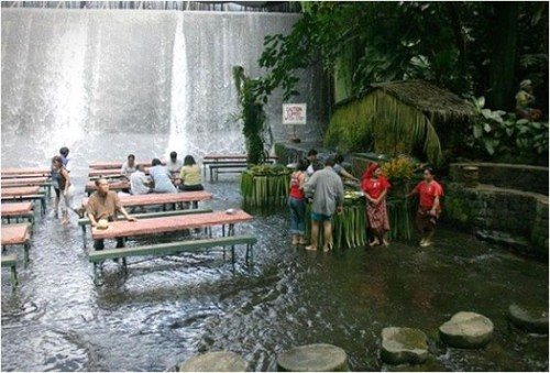 Waterfall restaurant @ Philippines