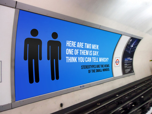 gay-men:  London Underground campaign.