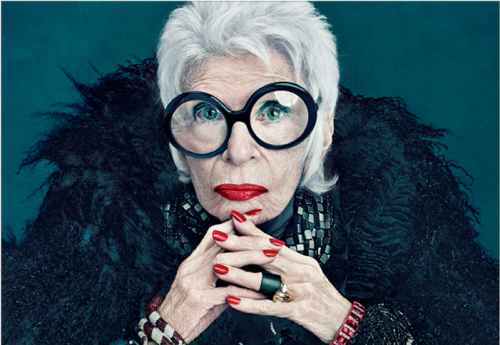 Iris Apfel is amazing - I hope I live this long, so I can be kookie too!