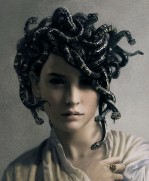 I don't know if anyone knows this but I love Medusa. She was a beautiful woman turn to a beast by another woman's jealousy…she is just amazing to me.
