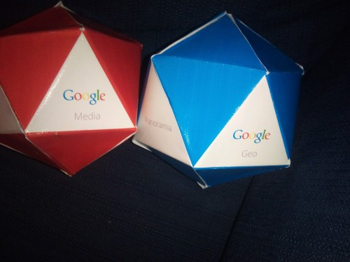 Some prototypes for the Google packaging brief. Like that this box has so many sides, as this lends itself well to displaying each product in the family in a tidy way. Currently through the boxes dont sit up properly, so I am still investigating other ideas.