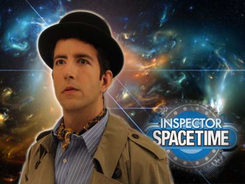"doctorwho:  There's going to be an Inspector Spacetime (Kickstarter-funded) web series!  Word out of the Gallifrey One Doctor Who convention is that there is going to be a web series of Community's Who-parody showInspector Spacetime. It sounds like it won't be Donald Glover and Danny Pudi in the starring roles, however. Travis Richey, who plays the Inspector on the show within a show will be producing six episodes. [bessyboo via Charlie Jane] Edit: Our own Charlie Jane Anders, who was at the panel, adds that there was a dramatic reading of the first webisode, in which the Inspector and Constable Reginald visit the planet New Seventh Earth Two, where they meet the Blogons, vanquish them with the Inspector's ""optic penknife,"" and then run into a deserted warehouse where they get trapped. Apparently, later in the episode we'll get to meet the Inspector's arch-nemesis. The panel also included a slideshow explaining the long line of actors who played the Inspector: Christopher Lee in the 1960s, Stephen Fry in the 1980s, and Steve Carell in the 1990s TV movie. Second Edit: Travis Richey, Inspector Spacetime himself, wrote in to clarify a few points:  Dan Harmon, Community, NBC and Sony have nothing to do with this web series. I pitched it to them after my first episode of Community, but never heard back from them one way or another. So I'm going to do it myself, with the help of fans. I'm launching a Kickstarter campaign in a matter of hours for an equipment budget, and the complete story can be read there.   Click through for more info."