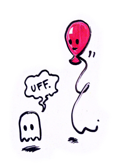 hey-ghost:  Quick whiteboard sketch. The final chapter of Hey, Ghost begins at midnight.