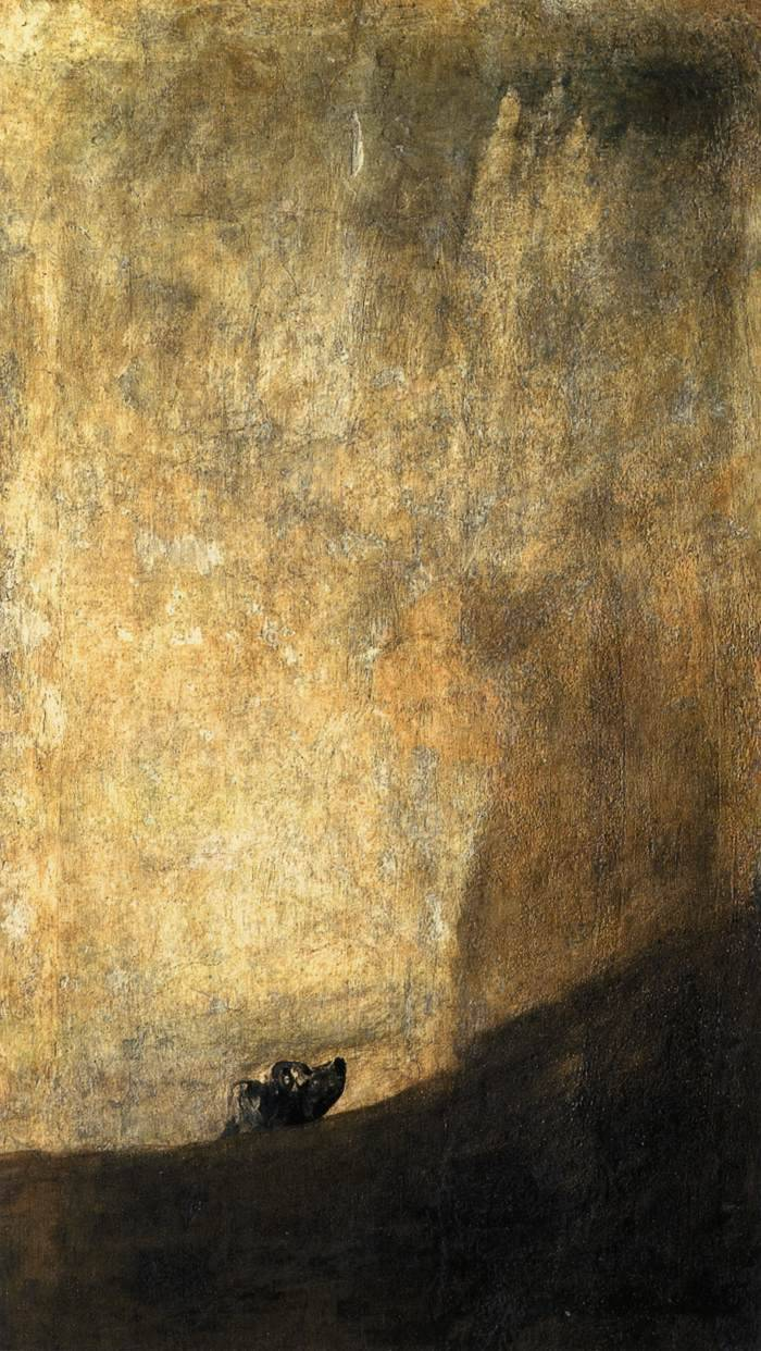 Francisco Goya, The Dog Oil mural on plaster (later transferred to canvas) 1819-1823