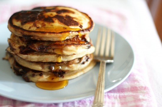 gastrogirl:  peanut butter chocolate chip pancakes and happy pancake day!