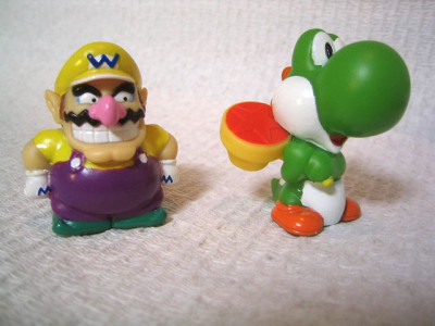 alloftheyoshis:  itsa me, waaaaario. and yoshi! by Scuzzi on Flickr.