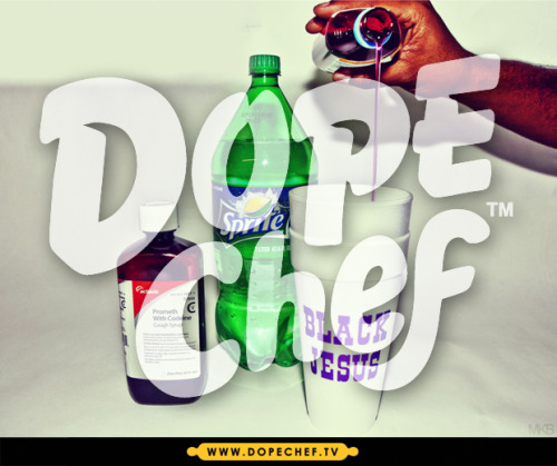 dopecheftv:  Coming down, sippin' lean mixin' up Promethazine
