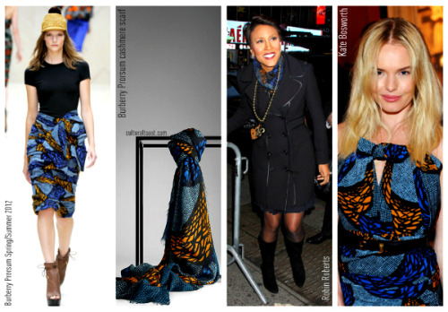 Robin Roberts Wears Burberry Prorsum Spring/Summer 2012 Cashmere Scarf! Read more only on CulturalToast.com.